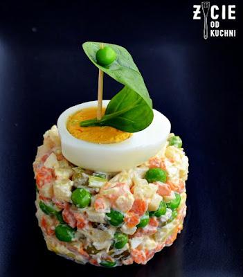 salatka, salatka jarzynowa, sylwester, impreza, menu na sylwestra