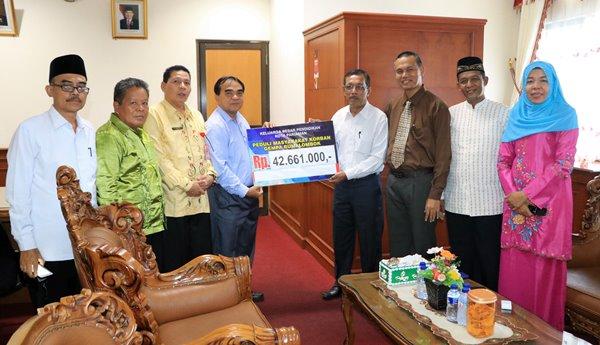 Pariaman Galang Dana Peduli Gempa Lombok, Terkumpul Rp48 Juta