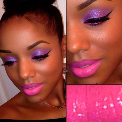 Foto 9 maquiagem lilas pele negra