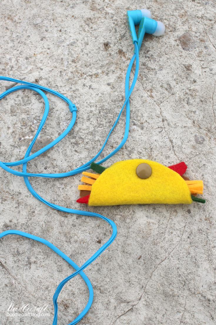 Doodlecraft Felt Taco Earbud Holder Diy