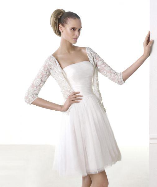 vestidos de novia civil en invierno
