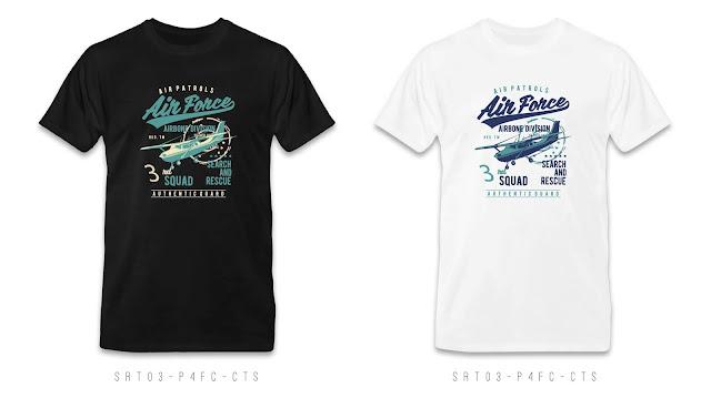 SRT03-P4FC-CTS Retro T Shirt Design, Custom T Shirt Printing