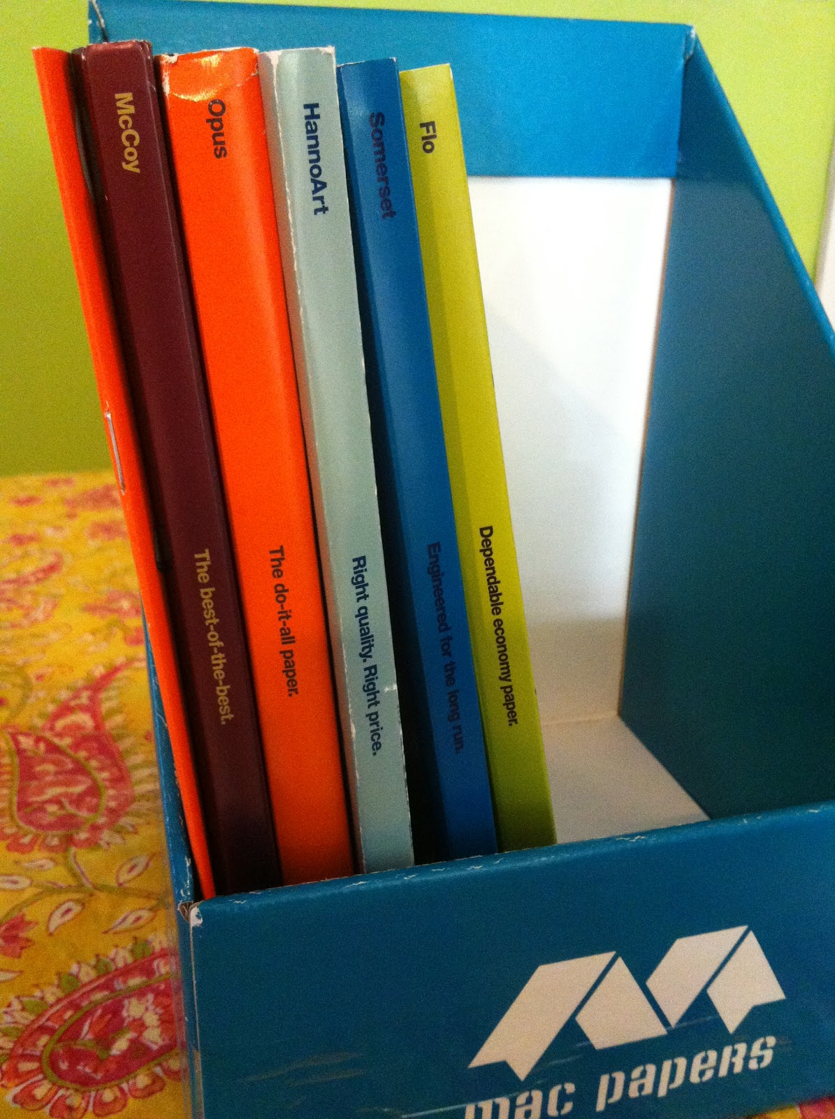 the sWATCH Cabinet: Mac Papers has Sappi's current swatch books