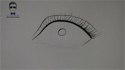 تعلم رسم العين بالقلم الجاف
