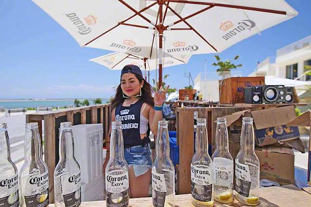 Corona beer, bottles, girl