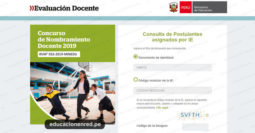 MINEDU: Relación de Postulantes por Institución Educativa - Nombramiento Docente 2019 - www.minedu.gob.pe