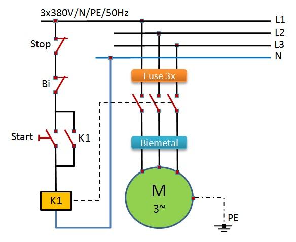 conduit 3 phase motor wiring diagram power electric otomasi industri