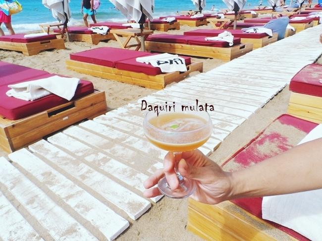 Pazuzu beach bar Daquiri Mulata cocktail