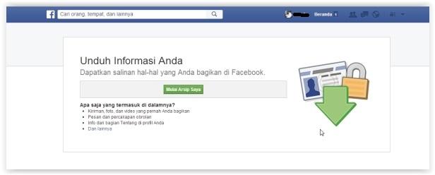 halaman mengunduh facebook