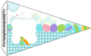Easter Bunny with Light Blue and White Squares: Free Party Printables.