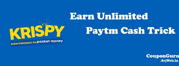 Krispy App 20 Rs everyday with paytm and bank transfer full trick