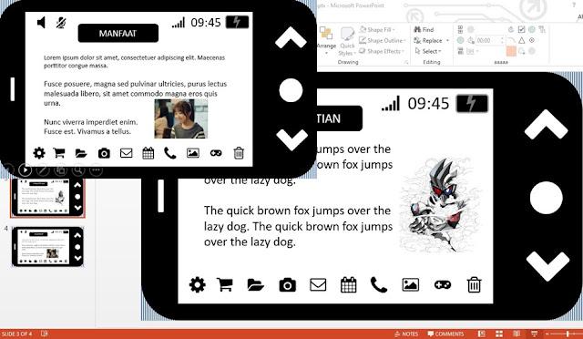Cara membuat Ukuran SlideShow menjadi lebih kecil PowerPoint
