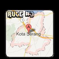 Rute #3 Kota Serang Dari Kota Tangerang (Via Tol)