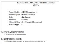 Download File RPP SD/MI Kelas 4 Semester 2