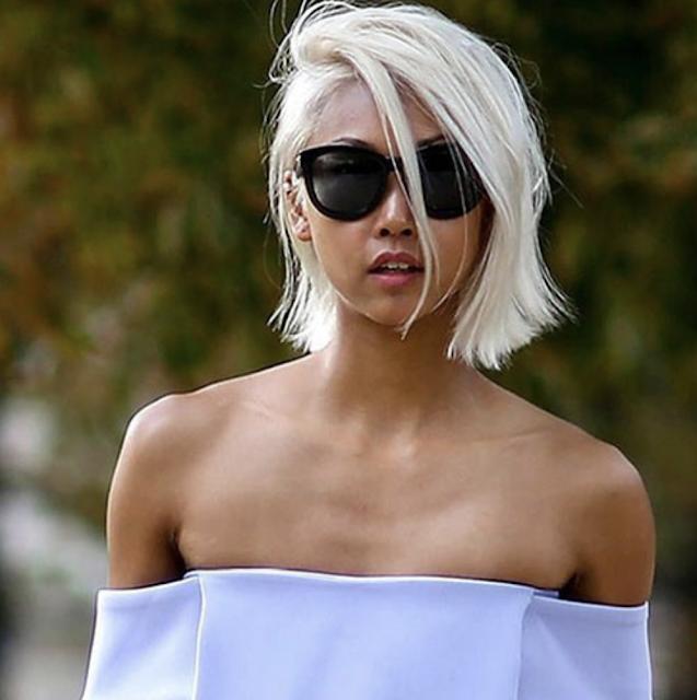 latest short haircuts for white hair 2019