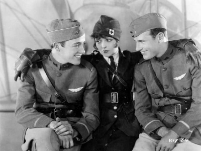 "Clara Bow, Charles ""Buddy"" Rogers, Richard Arlen Wings 1927"