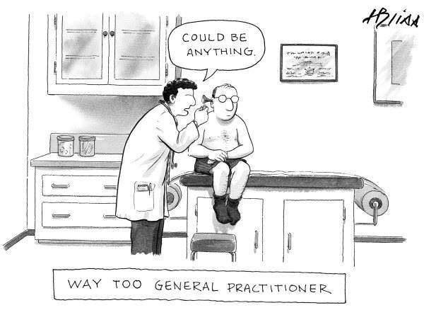 Funny Way Too General Practitioner Cartoon Joke Picture