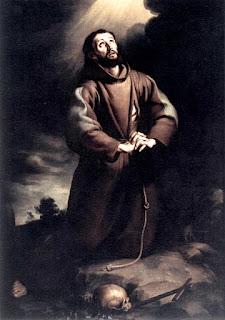 El santo, recibiendo la llamada del Señor