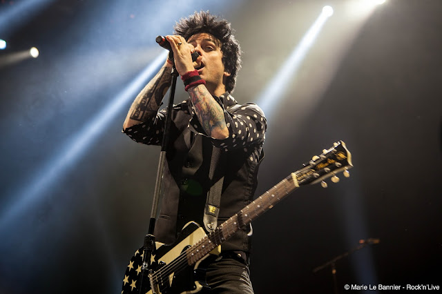 Green Day AccorHotels Arena Paris Bercy American Idiot Concert Punk Rock Live Rock'n'Live Photo Marie Dookie Le Bannier Mike Dirnt Tré Cool Revolution Radio Basket Case