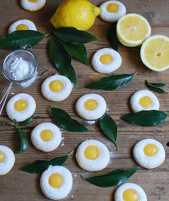 Galletas con crema de limón