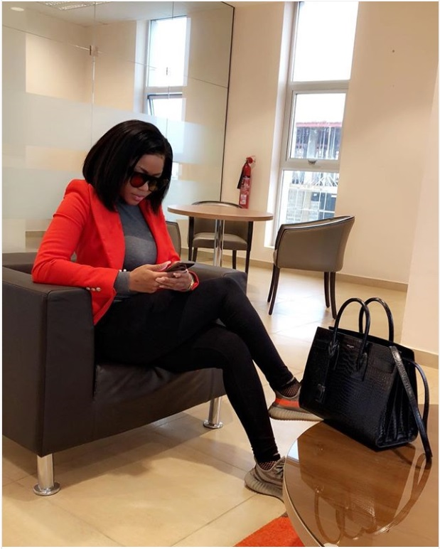 Cynthia Aghogho Onoriode at Volgograd International Airport Rocking Yeezy's Sneakers