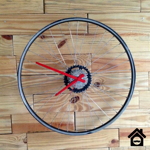 1 Relógio de Roda de Bicicleta   Faça você mesmo