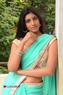 Actress Srilekha Pictures in Green Saree  0106.JPG