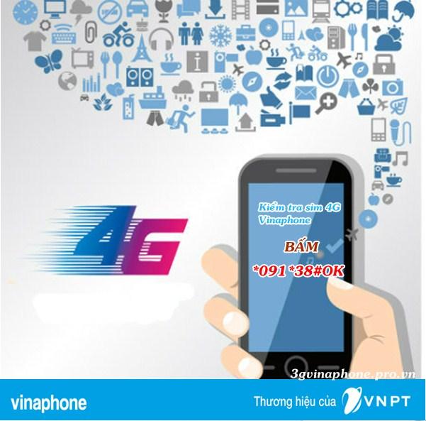 Cách kiểm tra sim Vinaphone đang dùng có phải sim 4G Vinaphone
