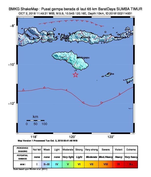 Innalillahi, Usai Lombok dan Palu Kini Terjadi Gempa di Sumba Timur