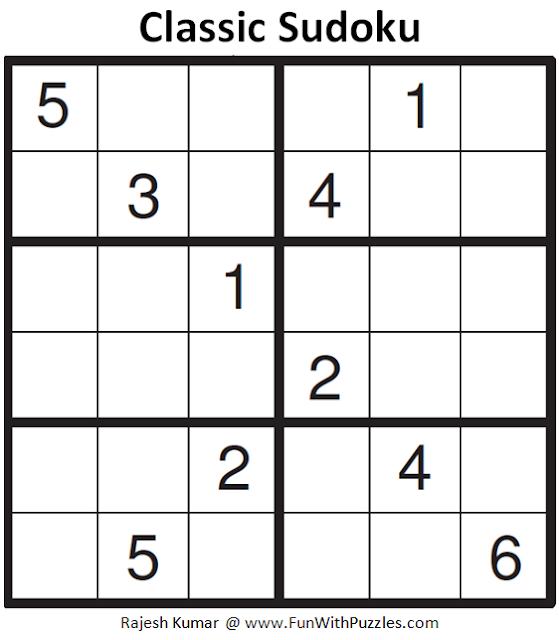 Classic Sudoku (Mini Sudoku Series #80)