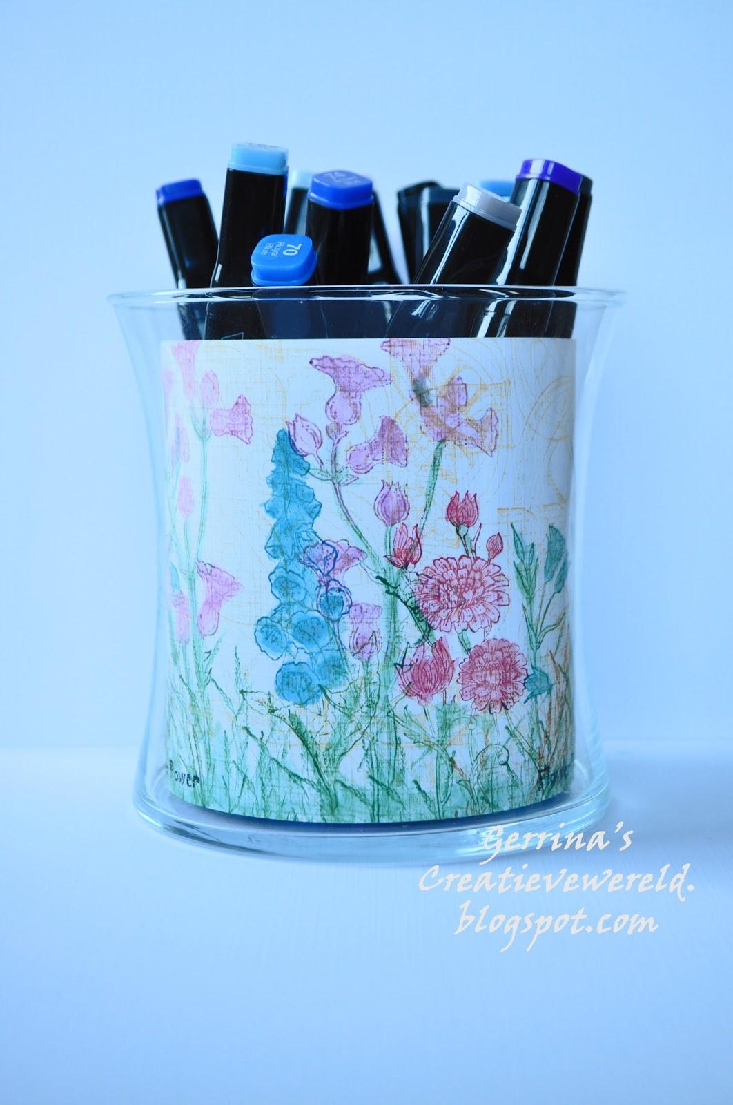 Chocolate Baroque Design Team Floral Pen Holder By Gerrina