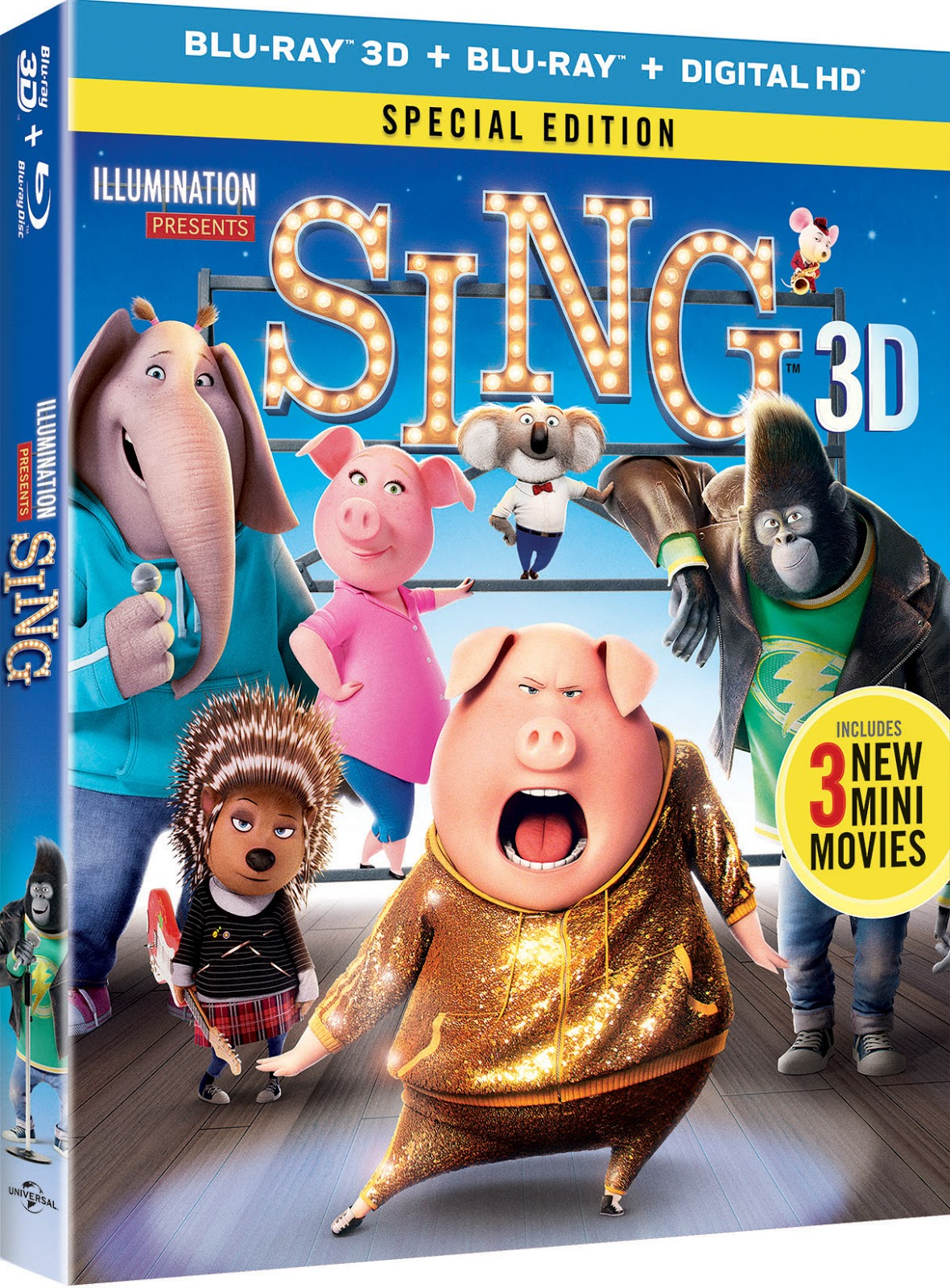 enter sing movie giveaway five will win ends 3 16. Black Bedroom Furniture Sets. Home Design Ideas