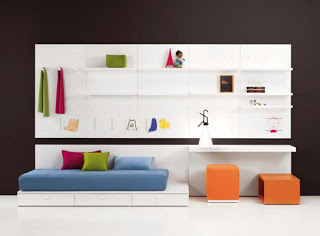 dormitorio minimalista para niño