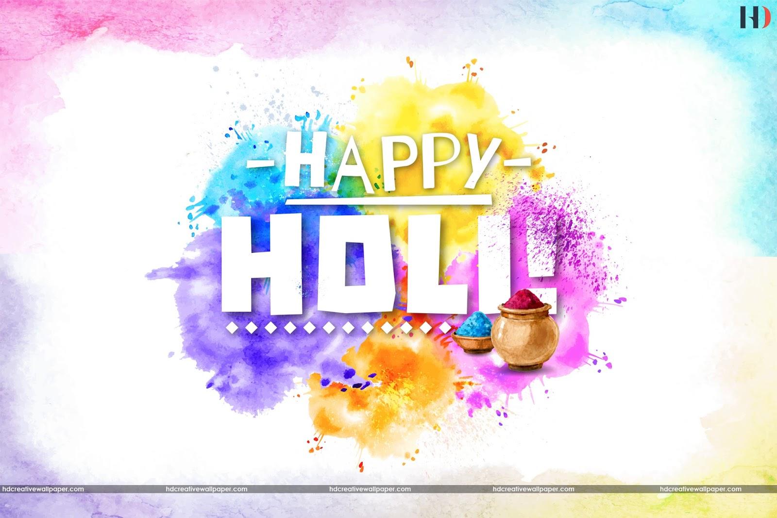 hd creative wallpaper: happy holi 2018