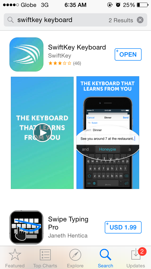 How to install third-party keyboard in iOS 8?