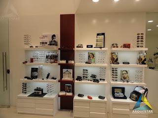 projeto arquitetura loja otica exposição oculos