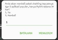 paket chatting