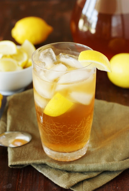 Classic Southern Sweet Tea ~ in true Southern style.  Have a nice big glass, y'all!   www.thekitchenismyplayground.com