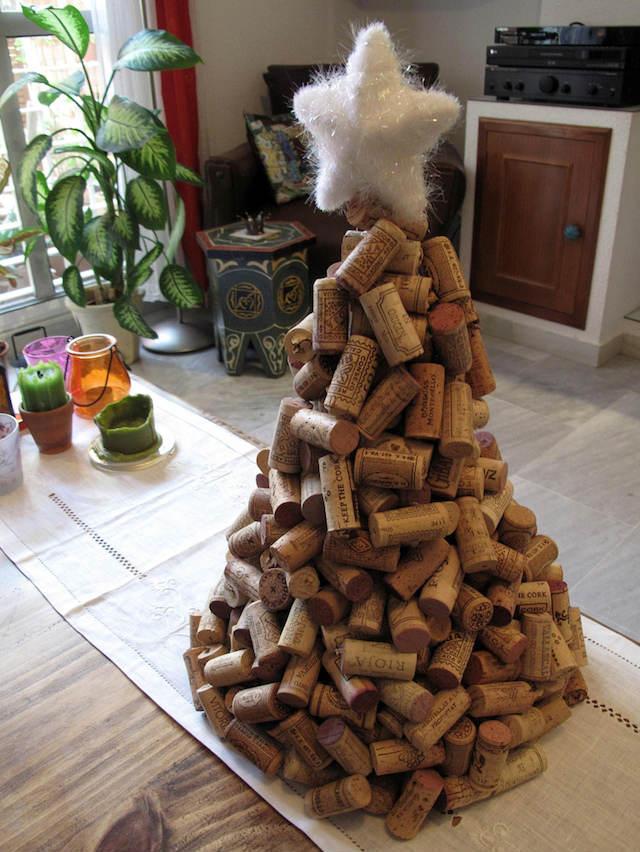10 ideas sorprendentes para reciclar tapones de corcho, árbol navidad