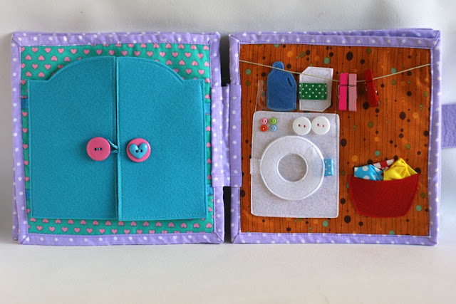 Dollhouse for Madelyn, fabric quiet book by TomToy