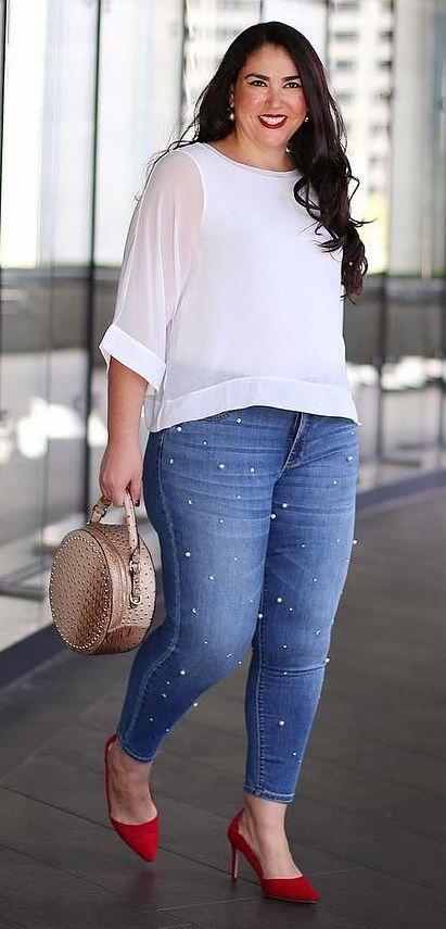 1a85f9b06 Cómo combinar jeans si soy gordita?