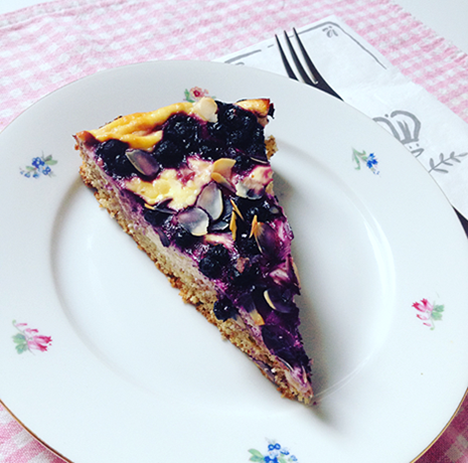 Heidelbeer Cheesecake_My Kitchen Logbook by Marlene Grünzweil