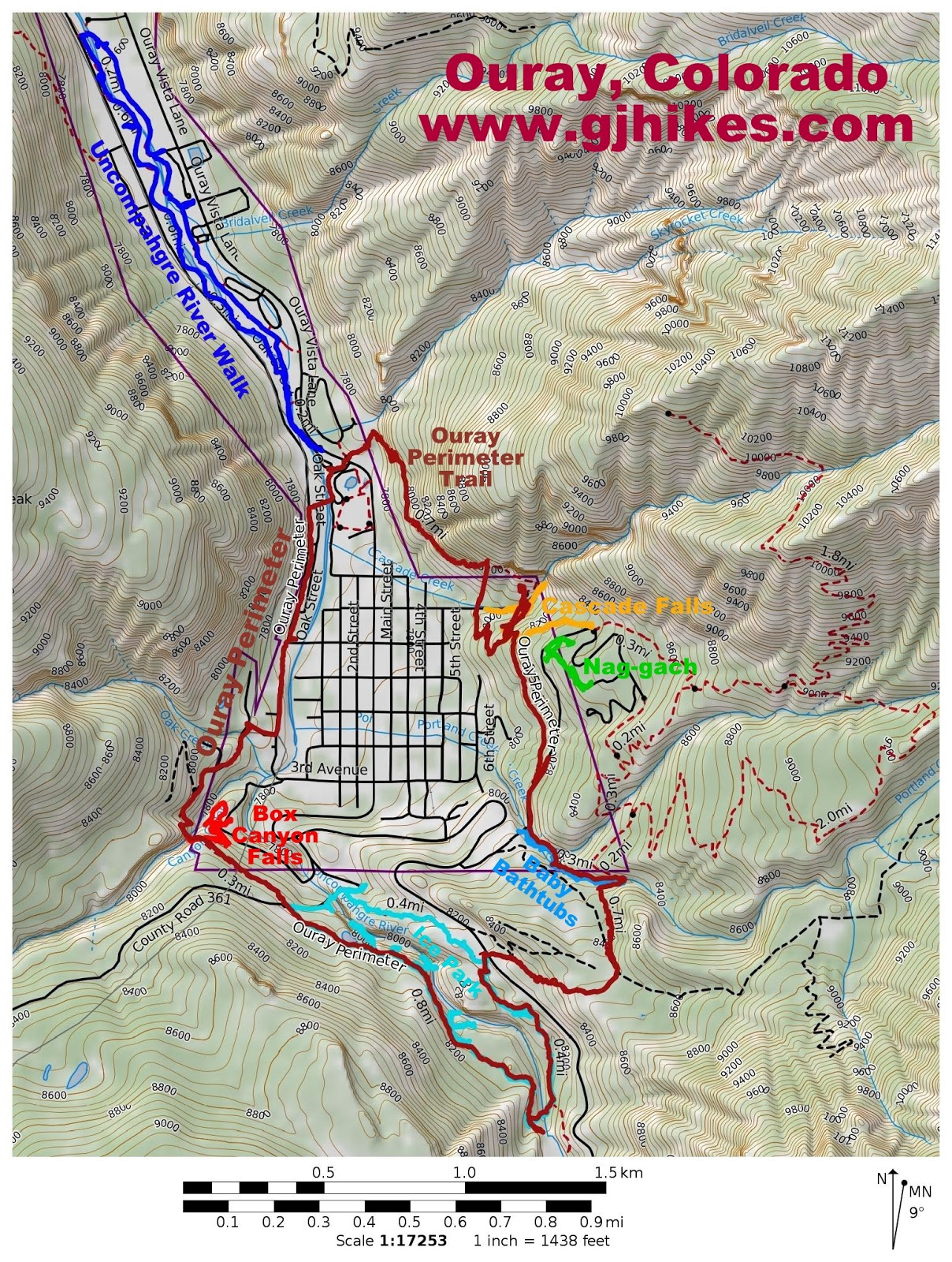 gjhikes.com: Ouray Perimeter Trail
