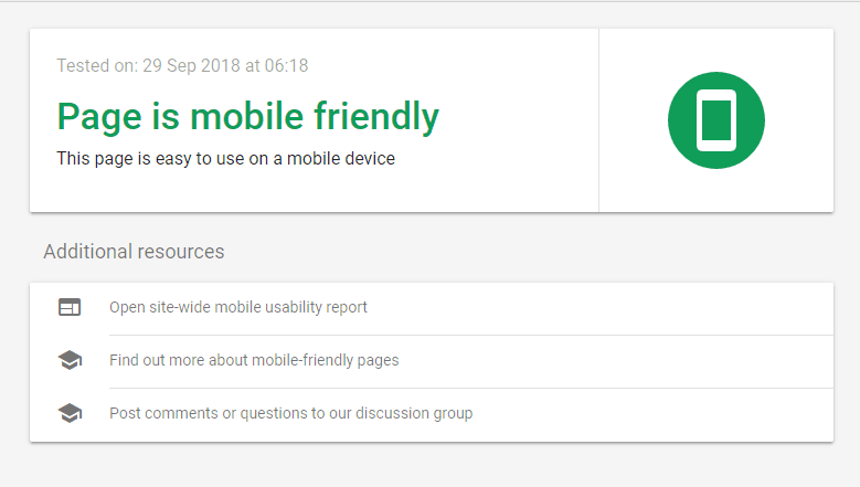 page mobile friendly tool