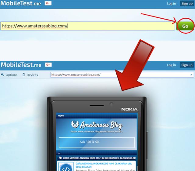 cara melihat tampilan blog/website di berbagai macam versi tampilan perangkat seluler dan tablet
