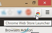 Chrome Web Store Launcher on chrome