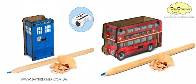 Оригинальные и качественные точилки для карандашей от DayDreamer. Сувенир Лондонский Автобус и Тардис, Полицейская будка - DayDreamer Blog
