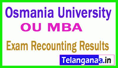 Osmania University MBA Recounting Results