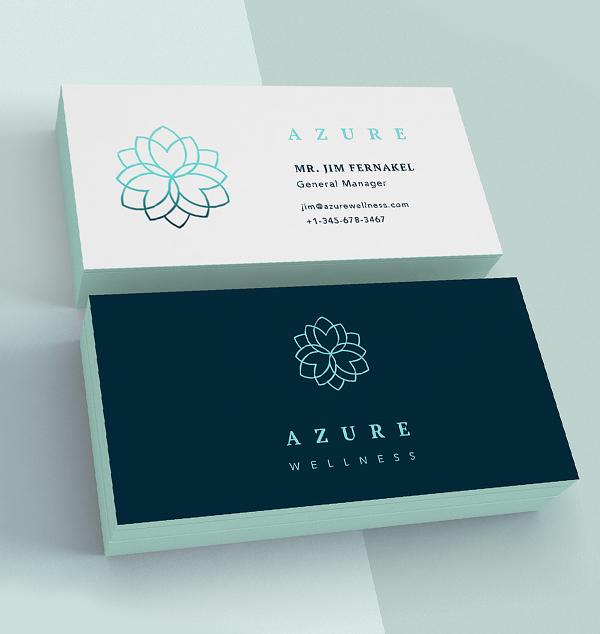 Inspirasi Desain Branding Identity - Azure Brand Identity