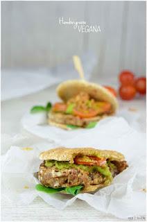 Hamburguesa vegana de quinoa y legumbre